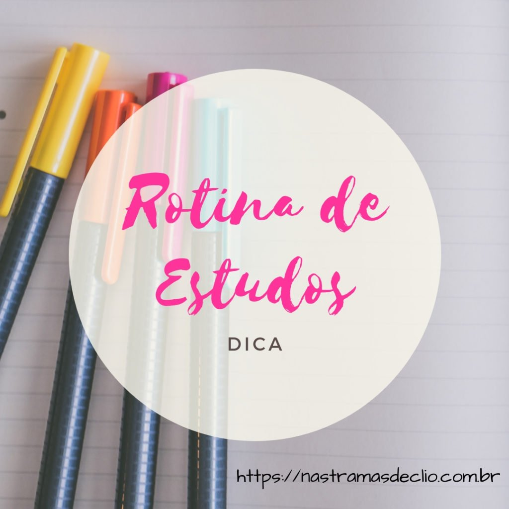 Post do Instagram sobre Rotina de Estudos