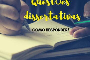 Post do Instagram com o título da postagem: Questões dissertativas como responder?
