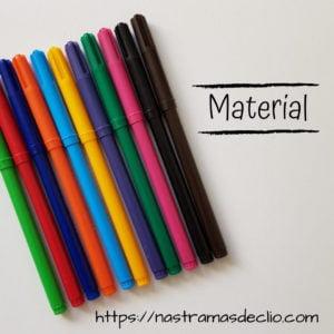 Post do instagram com o desenho de canetinhas que mostram o material necessário para elaboração de um Mapa Mental.
