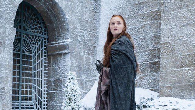 Fotografia da personagem Sansa, da família Stark.