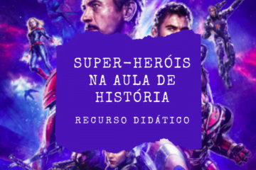 Post do instagram com o título do texto: Super-heróis na aula de história.