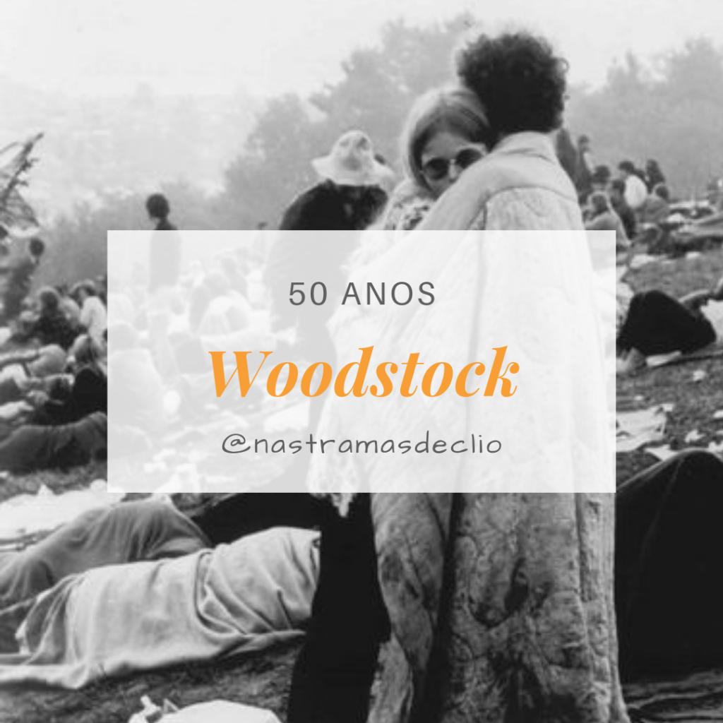 Post do Instagram sobre o aniversário de 50 anos do Festival de Woodstock em 2019.