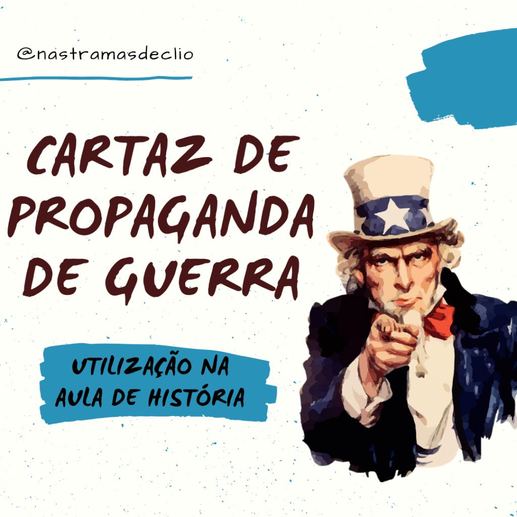 Publicação do instagram com o título da postagem: Cartaz de propaganda de guerra.