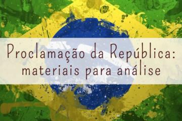 Post do Instagram com a imagem da bandeira do Brasil com o título: Proclamação da República.