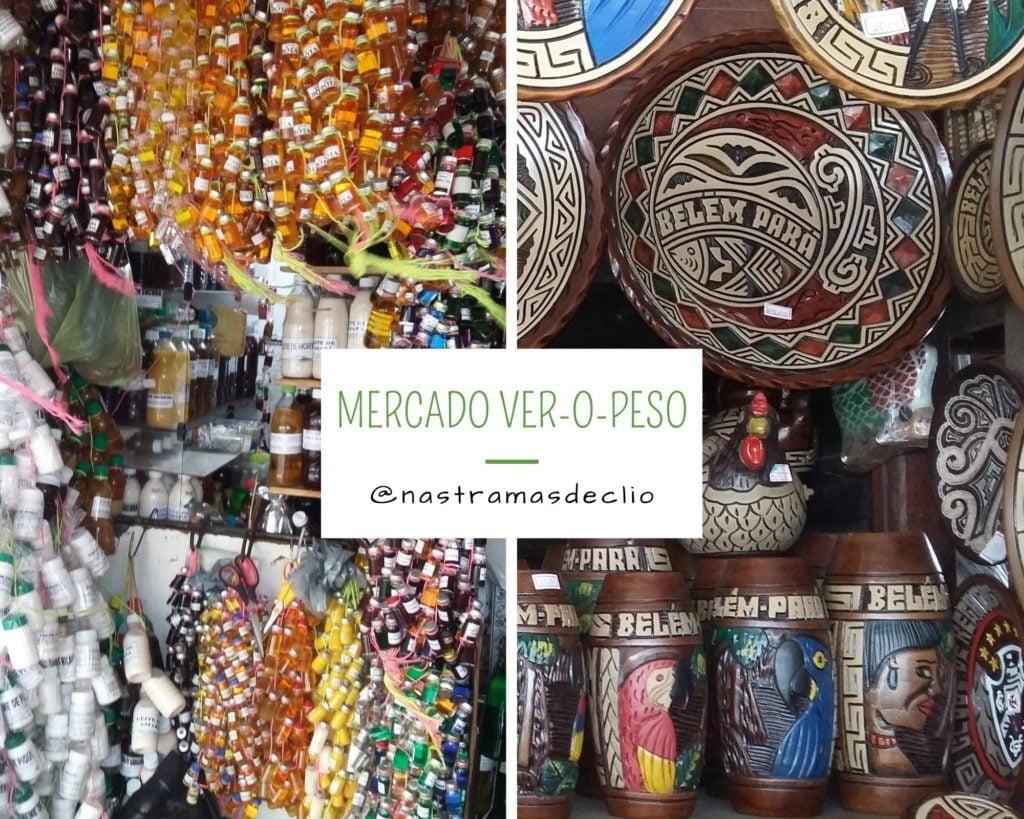 Imagem com fotografias do Mercado Ver-o-Peso.