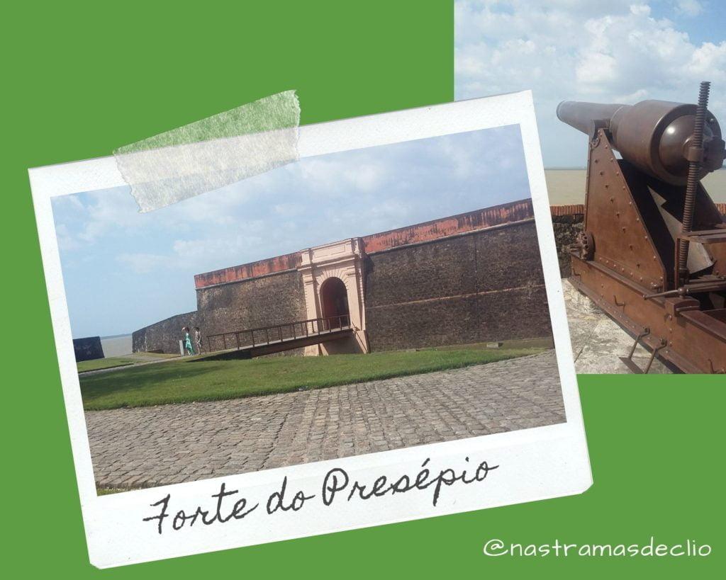 Imagem com fotografias do Forte do Presépio em Belém.
