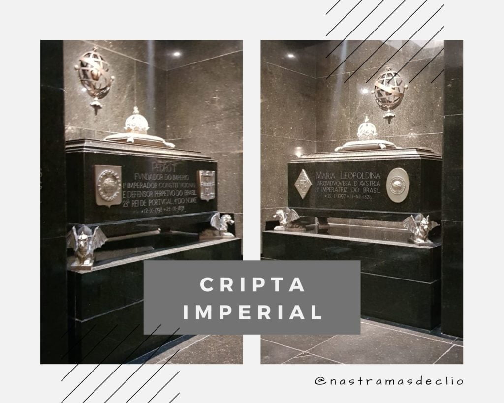Fotografias do interior da Cripta Imperial.