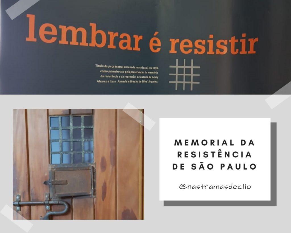 Fotografia do interior do Memorial da Resistência de São Paulo.