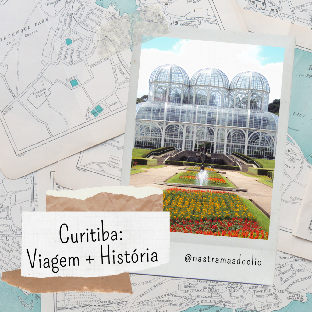 Post do Instagram com o título da postagem: Curitiba, História + Viagem.