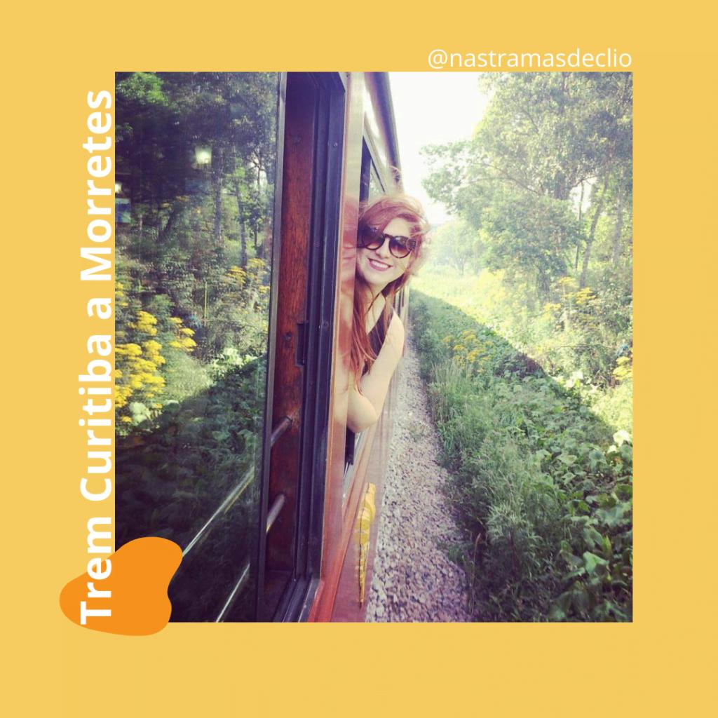 Fotografia no trem em direção a Morretes.