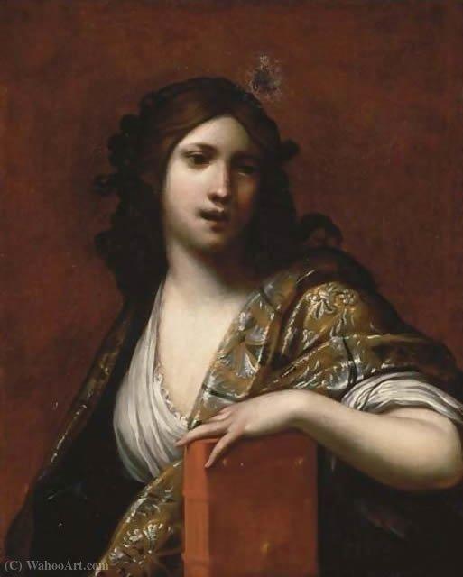 Pintura de Francesco Furini retratando a musa grega Clio.