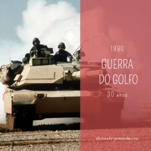 Imagem de um carro de combate blindado usado na Guerra do Golfo que em 2020 completa 30 anos.