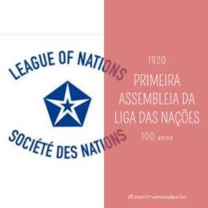 Imagem com o logo da Liga das Nações, uma das prováveis efemérides de 2020 a ser cobradas em questões de vestibular e Enem.