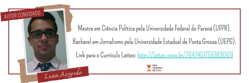 Autor convidado para falar sobre o Comunismo. Foto de Luan Azevedo, jornalista e Cientista Político.