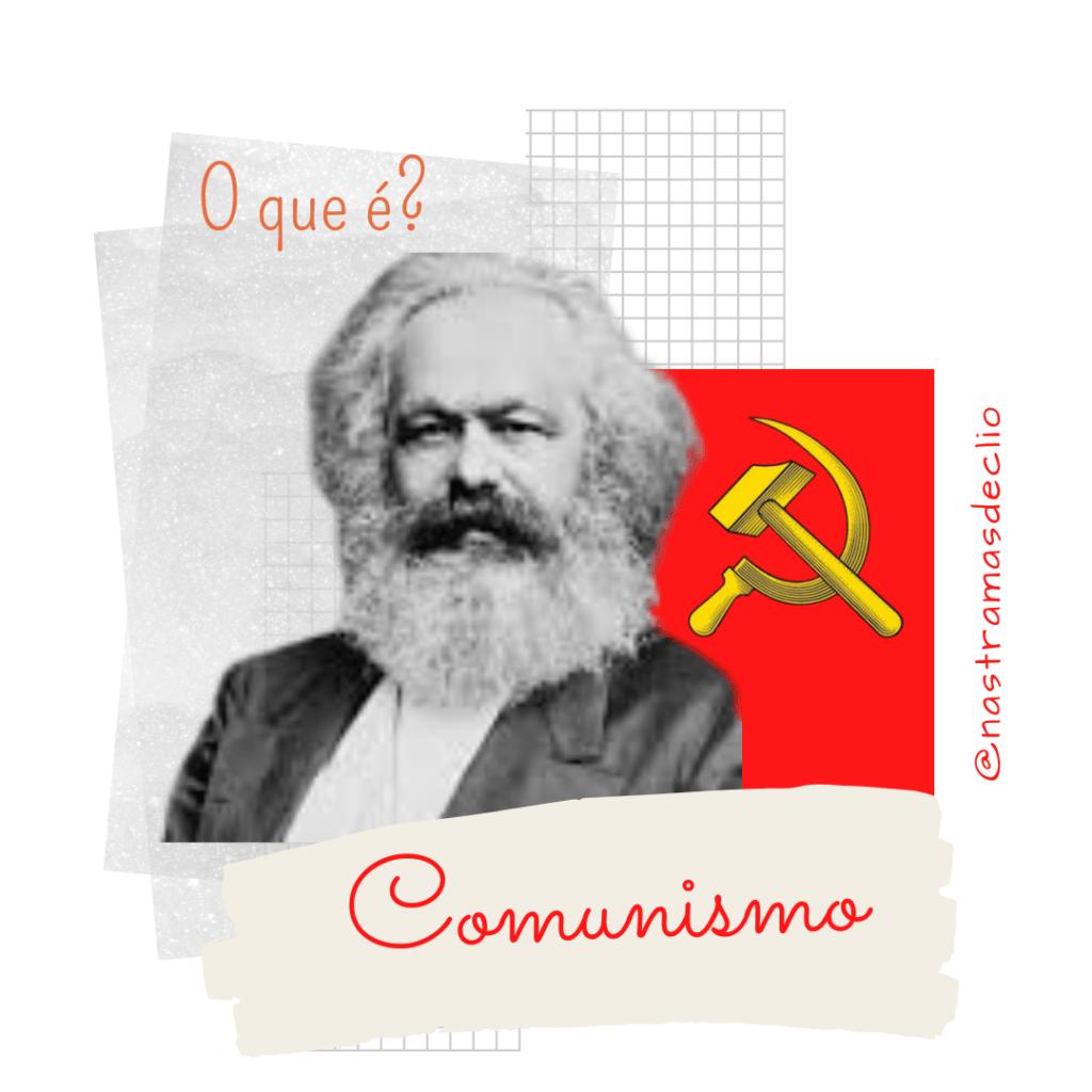 Post para o Instagram com o título do texto: Comunismo, o que é?