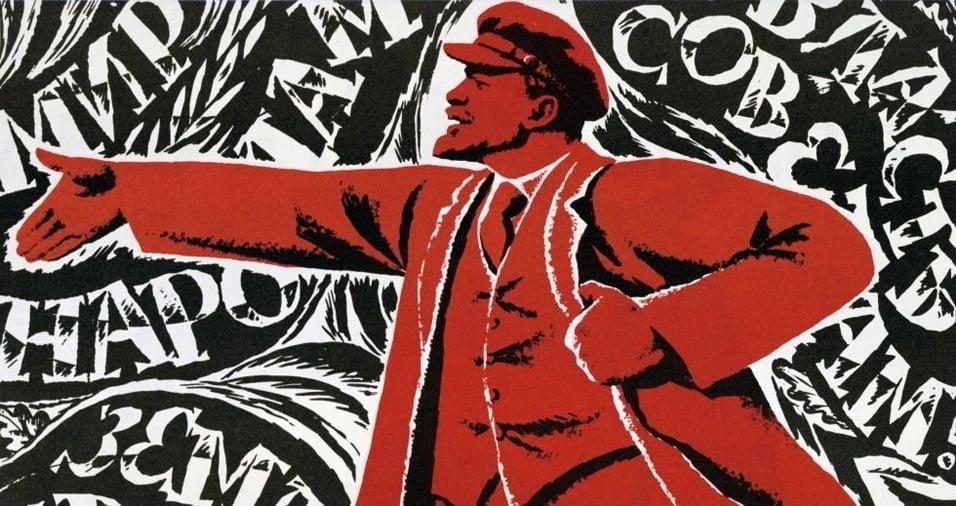 Imagem de Lênin líder dos Bolcheviques responsáveis pela Revolução de outubro de 1917