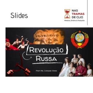 Post do instagram com a capa dos slides sobre a Revolução Russa.