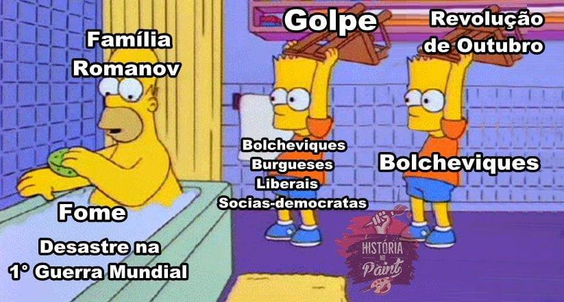 Meme sobre a Revolução Russa.